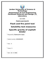 Flash n Fire n Solubility n SG OF apphalt.docx