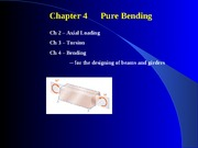 Chapter 4 Pure Bending