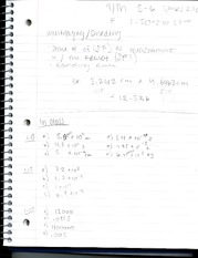 Notes on Multiplying and Dividing
