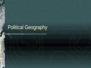 Political Geography 1