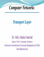5. Transport Layer