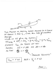 Class Notes on Rotational KE and The Moment of Inertia (1)