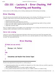 4. PHP Error Checking, Formatting and Rounding.pdf