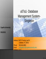 u07a1- Database Management System-Singleton.ppt