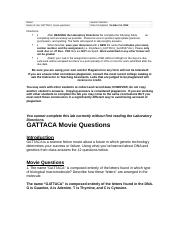 GATTACA Movie Lab Questions.rtf