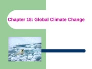 ES Chapter 18 Global climate change