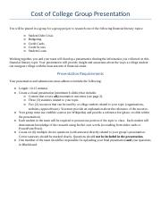 Cost of College Group Presentation Instructions (1)