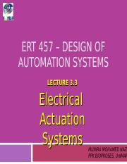 Lecture 3 Electrical actuation system
