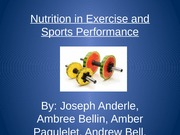 FND 370 Nutrition in Exercise and Sports Performance Presentation ppt.