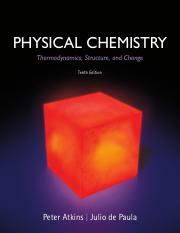 Physical Chemistry - Thermodynamics, Structure, and Change 10th ed - Peter Atkins, Julio de Paula (F
