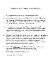 product market growth matrix exercise.pptm