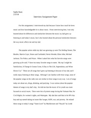 Interview Assignment Paper