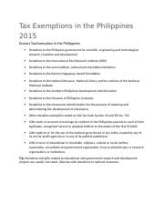 Tax-Exemptions-in-the-Philippines-2015