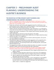 CHAPTER 5 – PRELIMINARY AUDIT PLANNING.docx