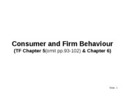 Week 4 Consumer and Firm Behaviour