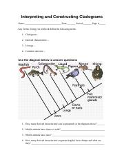 Interpreting and Constructing Cladograms.doc