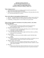 2 Defining Human Services Handout