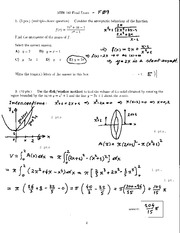 MTH 140 2009 FInal Exam Solutions
