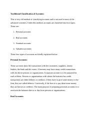 BCM OO3Traditional Classification of Accounts.docx