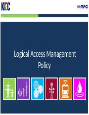 Logical Access Management Policy v1.0