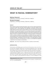 Desmond and Emirbayer - 2009 - What is racial domination.pdf