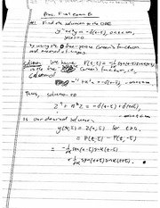 Final Exam B1 Solution on Mathematical Methods in Science and Engineering 2