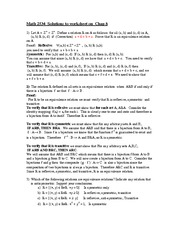 Class Lecture Worksheet Math 2534 chapter 8 Properties solutions