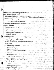 Chapter 4 Marketing Environment Book Notes