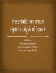 Presentation on annual report analysis of square..pptx