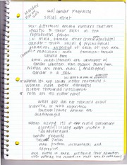 Gender Inequality Notes