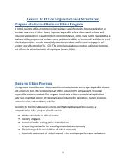 Lesson 8 - Ethics Organizational Structures.docx