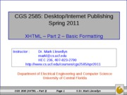 XHTML - Part 2