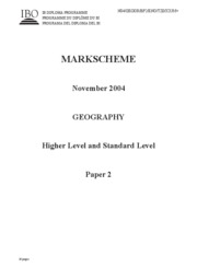 Geography SL+HL Paper 2ms