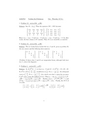 Problem Set 9 Solution Fall 2010 on Linear Algebra