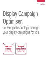 Display - Display Campaign Optimiser