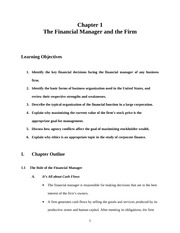 1.The Financial Manager and the Firm