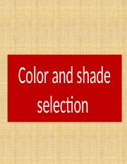 3- shade selection.pptx