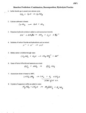 chemistry double single replacement worksheet reaction prediction double. Black Bedroom Furniture Sets. Home Design Ideas