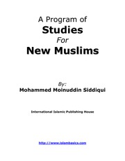 Program of Study for New Muslims