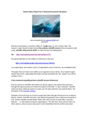 Marine Policy Project Part 2 2014-15