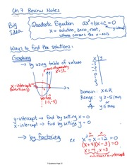 Quadratic Short Guide to Chapter