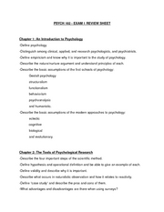 PSYCH 102 exam 1 study guide