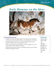 Early Humans on the Move Unit 1 Lesson 3