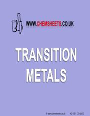 Chemsheets A2 043 (Transition metals).ppt