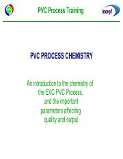 pvc process chemistry (additional notes)