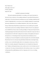 Bryce Patrick Jones Paper #7 - Moral Considerations