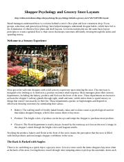 Chapter 17 Shopper Psychology and Grocery Store Layouts