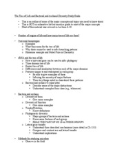 Bis2C-Fall09-StudyGuide.TreeofLife-Bac-Arc