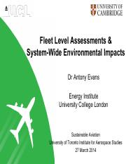 (11) 2014_Lecture11_AER1315_Fleet Level Assessment - Evans