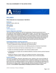 DE Fall 2013-POLS 2311-012 Syllabus